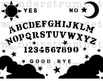 Halloween Stencil Series - Spirit Board