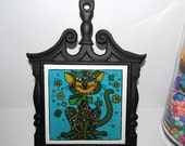 Shop Closing Sale Mid Century Modern Cat Trivet Cast Iron Howard Holt