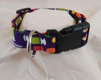 Candy Dog Collar, Candy Cat Collar, Purple Dog Collar, Purple Cat Collar, Dog Collars
