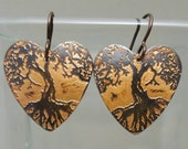 Heart Shaped Tree of Life Earrings