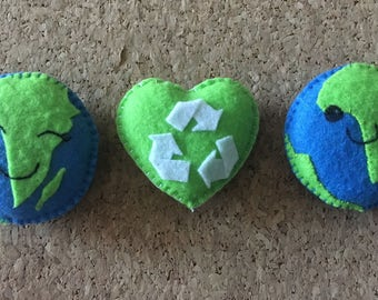 Earth Day Felt World and Recycling