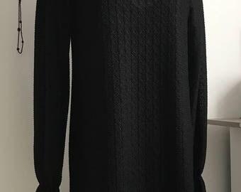 Black Long Victorian Dress - Sheer with inner lining dress Long Sleeve