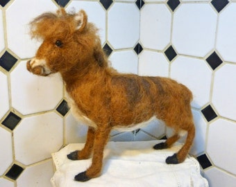 Needle Felt Donkey by Maure Bausch