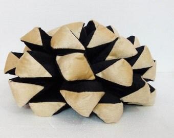 rustic home decor-pine cone-black pillow-beige pillow-velvet throw pillow-woodland nursery-throw pillow-decorative pillow-boho