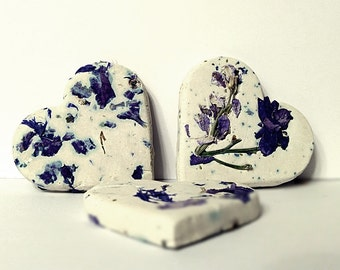 Unique wedding favor Botanical Seed Bombs ™ 65 Hearts, 2 inches,  with Herb Seeds for your Favors, Herb Gardening