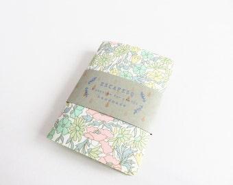 Mini Note Book 'Liberty Lawn Poppy And Daisy B'
