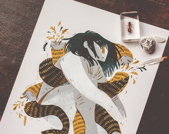 The Snake - archival art print