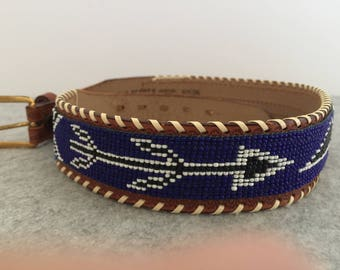 Vintage Indian Hand Beaded Belt