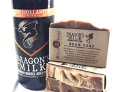 Dragons Milk Cold Process Beer Soap - Bourbon Barrel Stout Soap