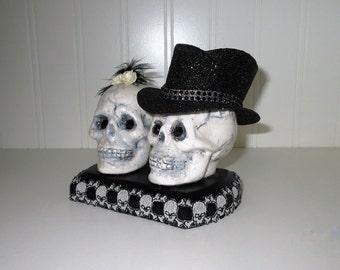 Til Death Do Us Part  Skull Cake Topper
