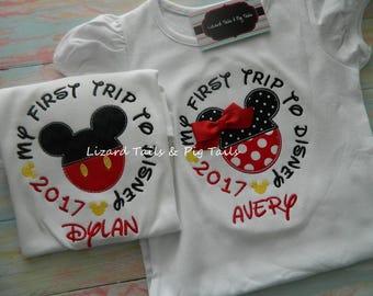 My 1st Trip to Disney First Time to Disney - My First Disney Trip - First Time to Disney Shirt - First Disney Vacation - Mickey and Minnie