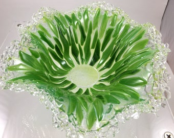 Icy Edge Green Bowl