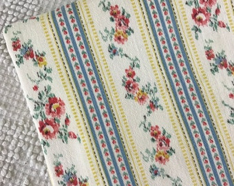Beautiful Shabby Cottage Vintage PINK ROSES Ticking Fabric Pillowcase