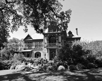 Beringer Vineyard Napa Valley black and white photograph
