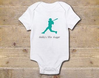 Baseball Onesie, Boy's Onesie, Baseball, Baby Shower Gift, Baby Boy, Baby Girl, Little Slugger, Baseball Fans, Daddy's Little Slugger