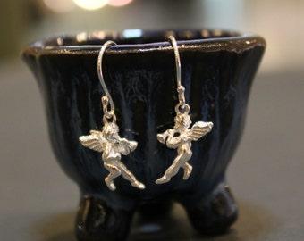 Silver Angel Minimalist Sterling Silver Earrings