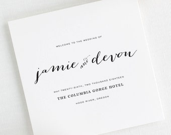 Flowing Script Wedding Programs - Deposit