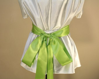 Satin Ribbon For Wedding Bow, Wedding Sash, Bridal Bow. Bridal Sash, Bridal Belt, Satin Belt, Pew Bow