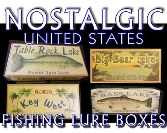 Walloon Lake Michigan cabin lake house decor fishing lure boxes