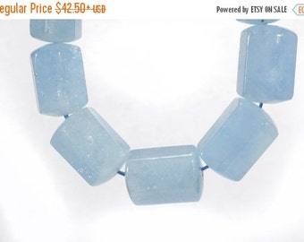 ON SALE Faceted Aquamarine Beads Pale Blue Hexagon Shaped Nuggets Beryl Earth Mined Semi Precious - 12x7mm to 17x11.5mm - Your Choose Beads