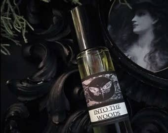 Into the Woods  Natural Alchemy Perfume Oil 1/3 oz roll on Creosote,Labdanum,Frankincense,Cypress,Cedarwood,Vanilla,Patchouli,Benzoin