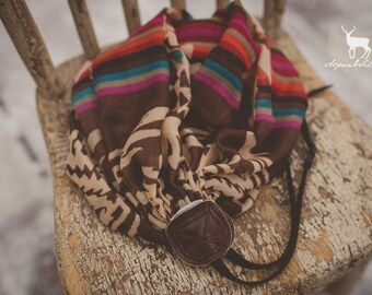 Brown Colorful Boho Camera Strap