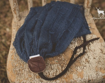 Denim Fray Camera Strap