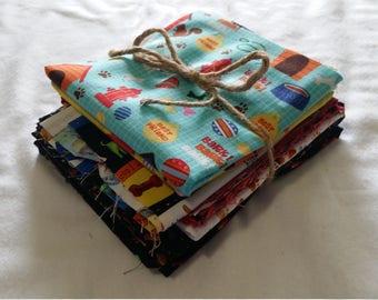 Fabric bundle of dog and cat fabrics