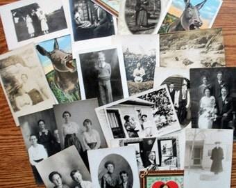 20 Penny Postcards - RPPC's & Linen
