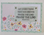 Praise The Lord Psalm 150 Christian All Occasion Card With Scripture And Flowers