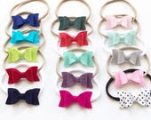 Felted wool bow headbands-choose your color