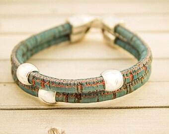 Cork Bracelet, Cork Jewelry, Eco Friendly Bracelet, Sustainable Jewelry, Vegan Bracelet, Vegan Leather, Cork Accessories, Eco Fashion, Cork