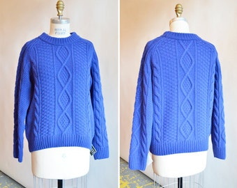 Vintage 1990s CABLEKNIT wool pullover