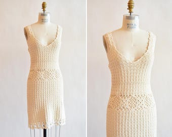 Vintage 1990s CROCHET summer dress