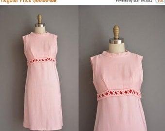 20% OFF SHOP SALE... vintage 1960s dress / Emma Domb mini dress / pink 60s dress