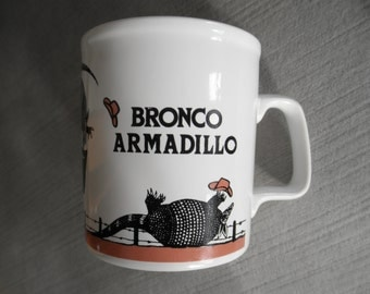 Vintage Bronco Armadillo Mug, Original Kilncraft, June Sobel