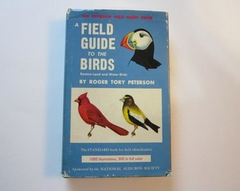 vintage book - A Field Guide to the BIRDS - Peterson field guide