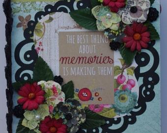 Making Memories 8x9 Premade Family Binder Scrapbook Album journal cards