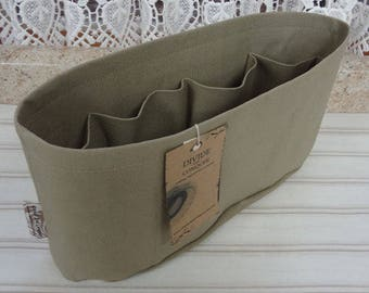 Khaki / Purse ORGANIZER Insert SHAPER/Flexible bottom or Stiff bottom/STURDY/ 5 Sizes Available /Check out my shop for more colors & styles