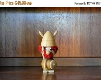 SALE 25% OFF vintage midcentury viking figurine