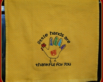Custom Kitchen Hand Towels Little Hands are Thankful For You
