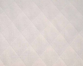 White Quilted Diamond Fabric