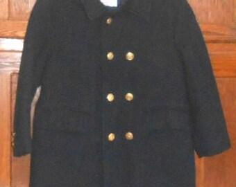 Vintage Baby Clothes Sailor Jacket Wool Coat Vintage Coat Navy Jacket Navy Blue Boys Clothing Children's Clothes