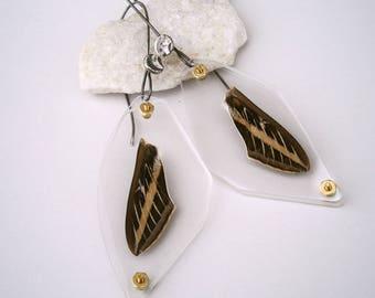 Sphinx Moth Wing Specimen Earrings