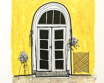 Yellow Shop drawing