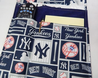 Chair Caddy, Arm Chair Caddy, Reading Organizer, New York Yankees, Made in USA