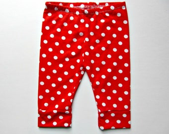 Red and White Polka Dot Baby girl leggings July 4th outfit First 4th of July fourth of july baby