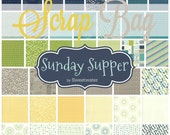 Sunday Supper by Sweetwater for Moda Scrap Bag Quilt Fabric Strips Remnants