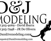 Private Listing for Amber D & J Remodeling Logo Decals