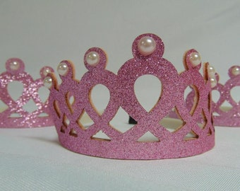 Princess Tiara Party Favors, Girls Crowns and Tiaras, Birthday Party Favors (Qty of 6)